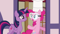 Pinkie -Thank goodness you're all here!- S4E18