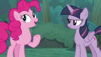 Pinkie -already at the Tree of Harmony- S8E13
