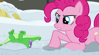 "Pinkie Pie ""here to help in a pony's heartbeat"" S7E11"