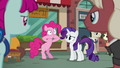 Pinkie Pie closes her mouth with her hooves S6E3.png