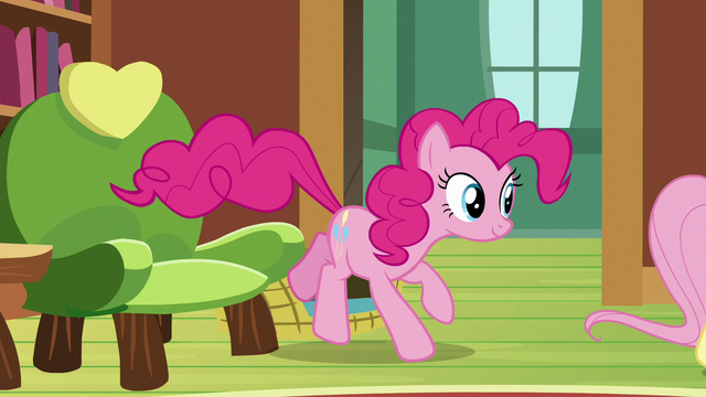 File:Pinkie Pie hopping out of her chair S7E5.png