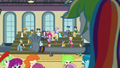 Pinkie Pie interrupts Rainbow's speech EG3.png