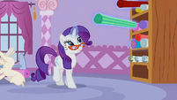 Rarity levitating cloth bolts S1E14