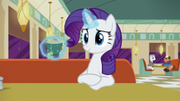 Rarity pauses while levitating her drink S6E9