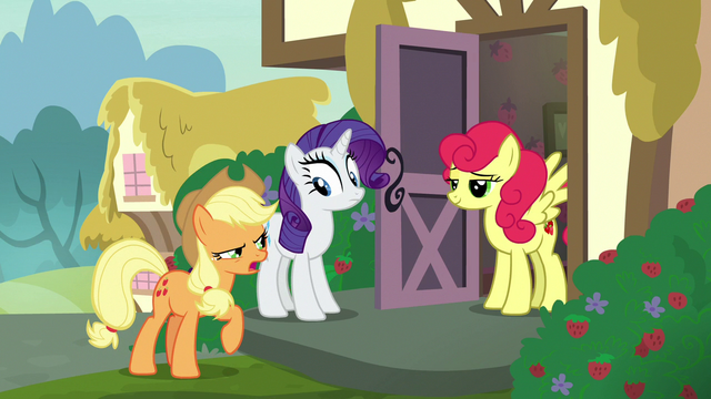 "File:Applejack ""apples are better than strawberries!"" S7E9.png"