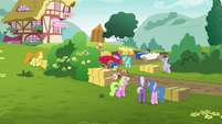 Derby foals racing around the bend S6E14