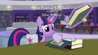 Dusty Pages stamping Twilight's books S9E5