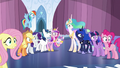 Ponies staring at the shattered Crystal Heart S6E1.png