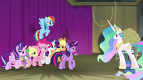 Princess Celestia confronting Twilight S8E7