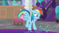 Rainbow Dash finds a trail of glitter S8E17