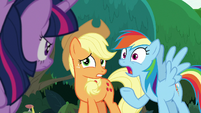 Rainbow Dash insisting -we are!- S8E9