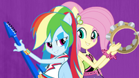 Rainbow and Fluttershy back to back EG2
