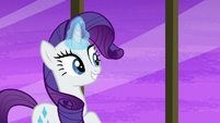 Rarity hears Pinkie Pie and Saffron return S6E12