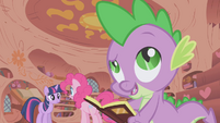 Spike calls Pinkie -pink with envy- S1E05