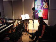 Stef Lang recording with Daniel Ingram