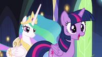 Twilight Sparkle -as princess, I believe- S4E26