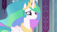 Celestia smiling reassured at Twilight S8E7
