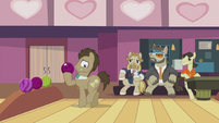Dr. Hooves tiptoeing forward S5E9