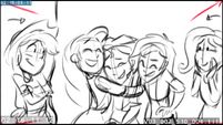 EG3 animatic - Rarity hugging Sunset Shimmer