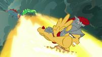 Flash Magnus shields against more dragon breath S7E16