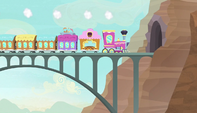 Friendship Express about to enter the tunnel S5E1