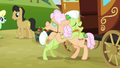 Granny Smith and Apple Rose hugging S3E08.png