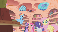Main 5 notice Applejack is gone S1E09