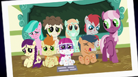 Picture Day photo of Cheerilee and sick foals S7E3