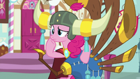 Pinkie Pie looking confused S8E18