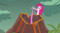 Pinkie Pie pours sprinkles into the volcano EGDS1