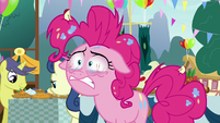 Pinkie Pie straining to keep her eyes open S7E23