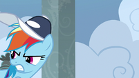 Rainbow Dash glares back at Snips S9E15
