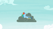 Rainbow sulking on a rain cloud S4E21