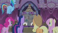 Rarity's friends listening Rarity talking S4E13