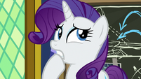 Rarity embarrassed by her speech S9E4