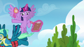 Sky Stinger flying toward the obstacle course S6E24.png