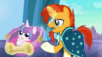"Sunburst ""ever since Flurry Heart's Crystalling"" S6E16"