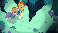 Sunburst and Maud Pie find a rock stalactite S7E24