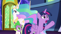 "Twilight ""send her off to Celestia-knows-where"" S7E1"