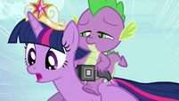 Twilight and Spike -almost there- S4E01
