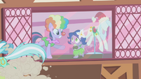 Twilight and Spike in costumes S1E3