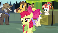 Apple Bloom looking across the marketplace S7E13