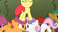 Apple Bloom stomping on her friends S2E1