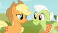 Applejack and Granny Smith smile S03E08.png