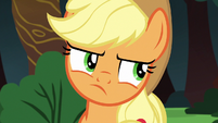 Applejack rolls her eyes at Rainbow Dash S6E18