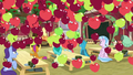 Apples rain on Applejack's class S8 opening.png
