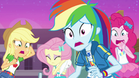 Equestria Girls watching in horror EGFF