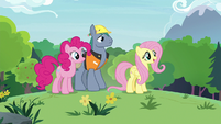 Fluttershy, Pinkie, Hard Hat in the meadow S7E5