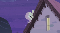 Fluttershy overhearing Starlight and Double's conversation S5E02