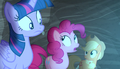 Pinkie Pie accidentally reveals secrets S5E1.png
